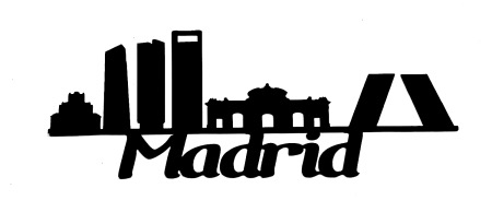 Madrid Scrapbooking Laser Cut Title with skyline