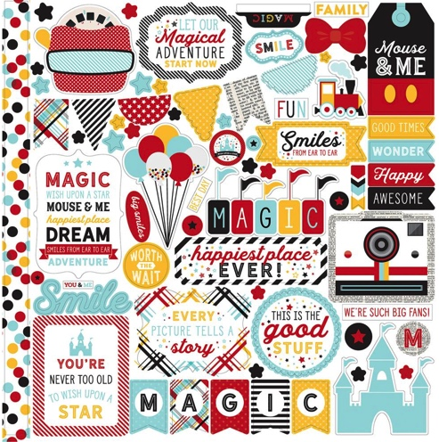 Magic and Wonder 12x12 Cardstock Scrapbooking Stickers