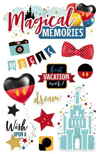 Magical Memories 3D Glitter Scrapbooking Stickers