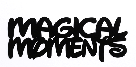 Magical Moments Scrapbooking Laser Cut Title