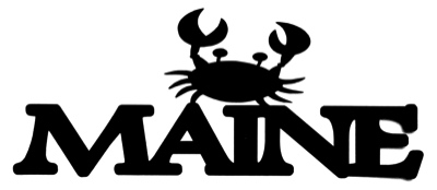 Maine Scrapbooking Laser Cut Title with Crab