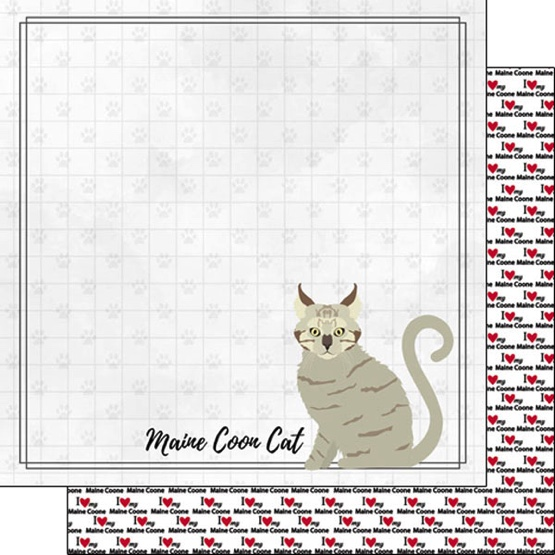 Maine Coon 12x12 Double Sided Scrapbooking Paper