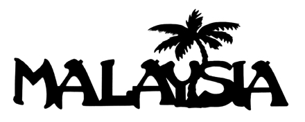 Malaysia Scrapbooking Laser Cut Title with Palm Tree
