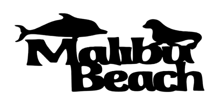 Malibu Beach Scrapbooking Title with Seal and Dolphin