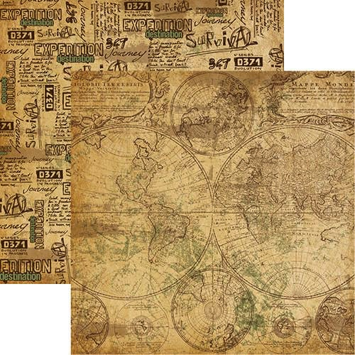 Mappe Monde 12x12 Double Sided Scrapbooking Paper
