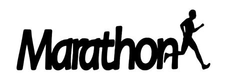 Marathon Scrapbooking Laser Cut Title with Runner