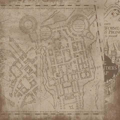 Harry Potter Marauder Map 12x12 Scrapbooking Paper
