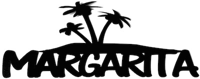 Margarita Scrapbooking Laser Cut Title with Palm Trees
