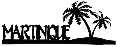 Martinique Scrapbooking Laser Cut Title With Palm Trees