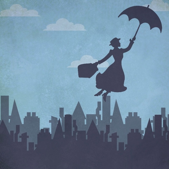 Mary Poppins 12x12 Scrapbooking Paper