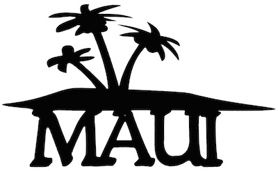 Maui Scrapbooking Laser Cut Title With Palm Trees