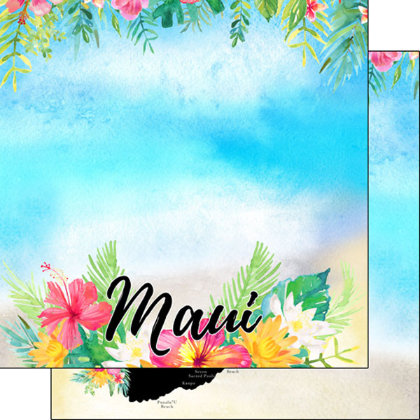 Maui Getaway 12x12 Double Sided Scrapbooking Paper