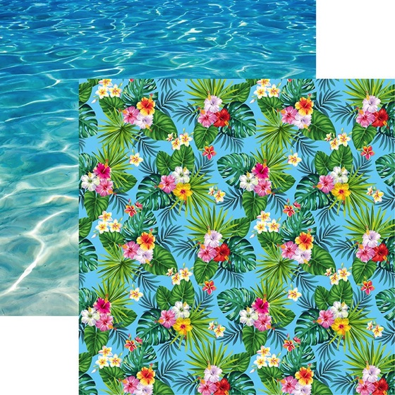Maui Flowers 12x12 Double Sided Scrapbooking Paper