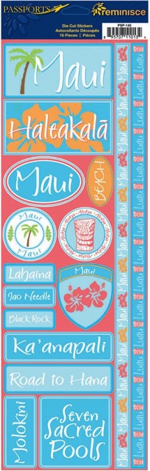 Maui Cardstock Scrapbooking Stickers and Borders