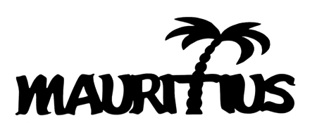 Mauritius Scrapbooking Laser Cut Title with Palm Tree