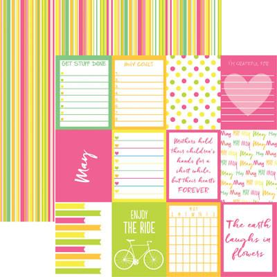 Plan it May 12x12 Double Sided Scrapbooking Paper