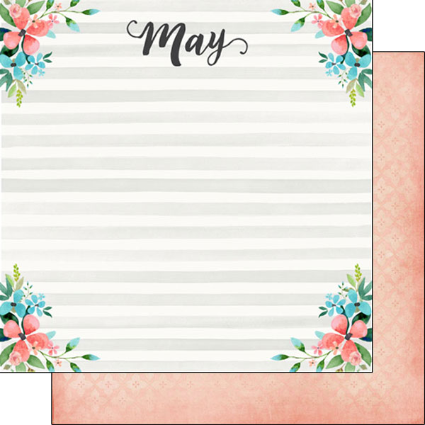 May 12x12 Double Sided Scrapbooking Paper