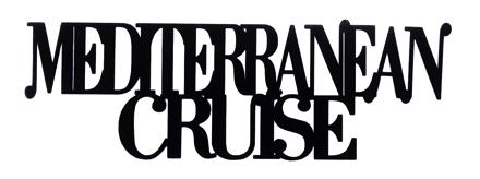 Mediterranean Cruise Scrapbooking Laser Cut Title