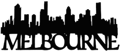 Melbourne Scrapbooking Laser Cut Title with Skyline