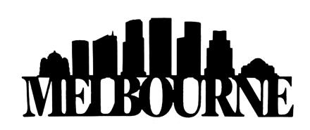 Melbourne Scrapbooking Laser Cut Title with Buildings