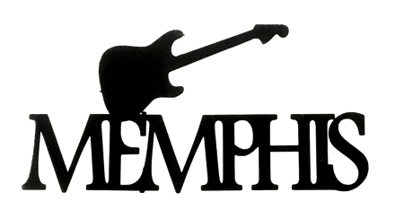 Memphis Scrapbooking Laser Cut Title with Guitar
