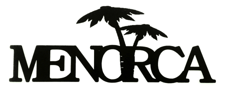 Menorca Scrapbooking Laser Cut with Palm Trees