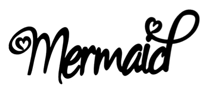 Mermaid Scrapbooking Laser Cut Title