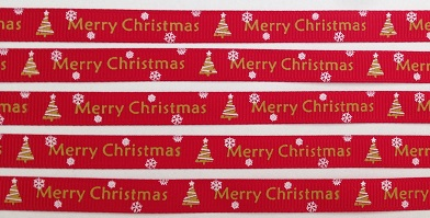 Merry Christmas Self Adhesive Scrapbooking Ribbon