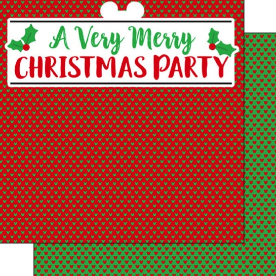 Very Merry Christmas Party 12x12 Double Sided Scrapbooking Paper