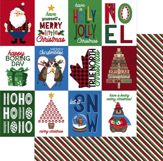 Merry Christmas Double Sided 12x12 Scrapbooking Paper