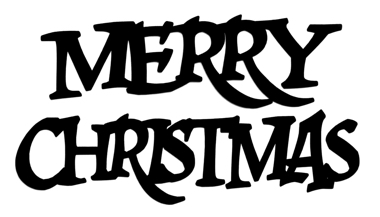 Merry Christmas Scrapbooking Laser Cut Title