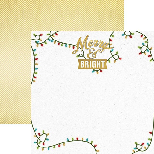 Merry and Bright 12x12 Double Sided Scrapbooking Paper
