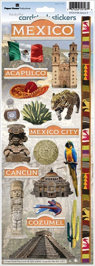 Mexico Cardstock Scrapbooking Stickers