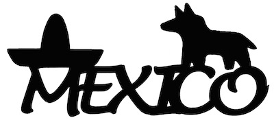 Mexico Scrapbooking Laser Cut Title with Pinata and Hat