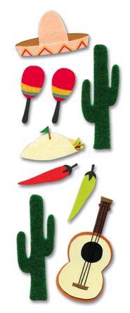 Mexico Jolees 3D Scrapbooking Stickers
