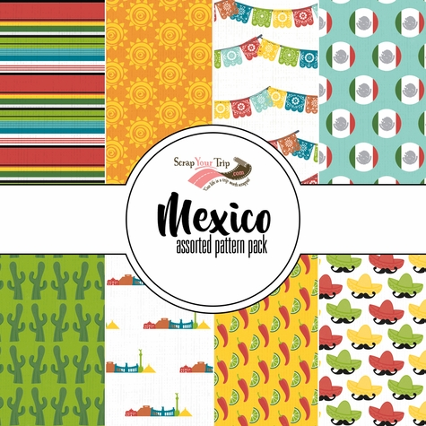 Mexico 12x12 Scrapbooking Paper Pack