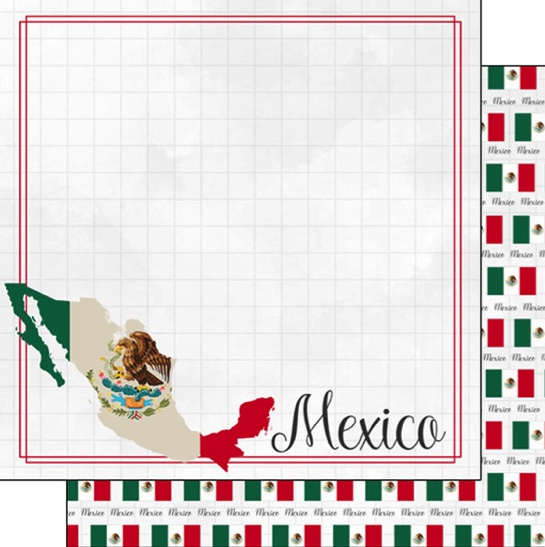 Mexico 12x12 Double Sided Scrapbooking Paper