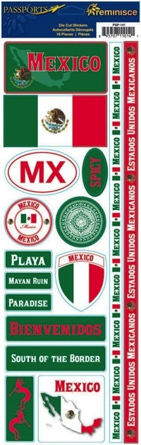 Mexico Cardstock Scrapbooking Stickers and Borders