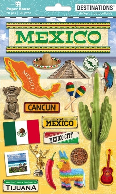 Mexico 3D Destinations Scrapbooking Stickers