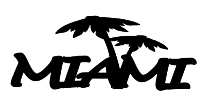 Miami Scrapbooking Laser Cut Title with Palm Trees