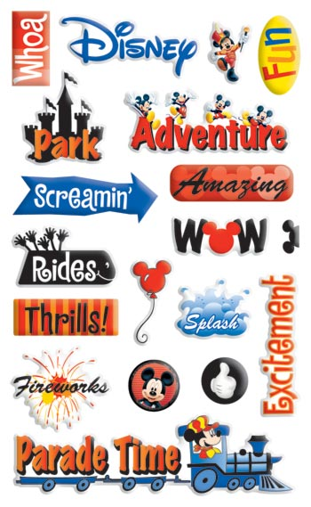 Disney Adventure Epoxy Scrapbooking Stickers