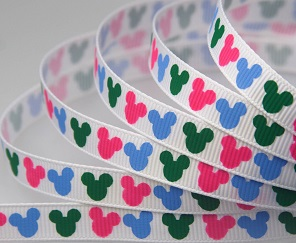 Mickey Colourful Heads Self Adhesive Scrapbooking Ribbon