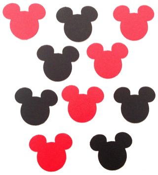 Mickey Mouse Die Cut Scrapbooking Shapes