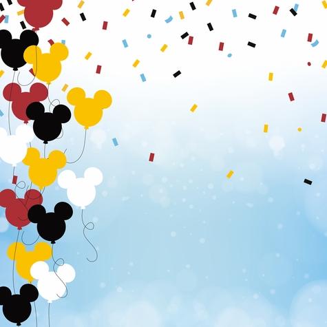 Mickey Celebration 12x12 Scrapbooking Paper