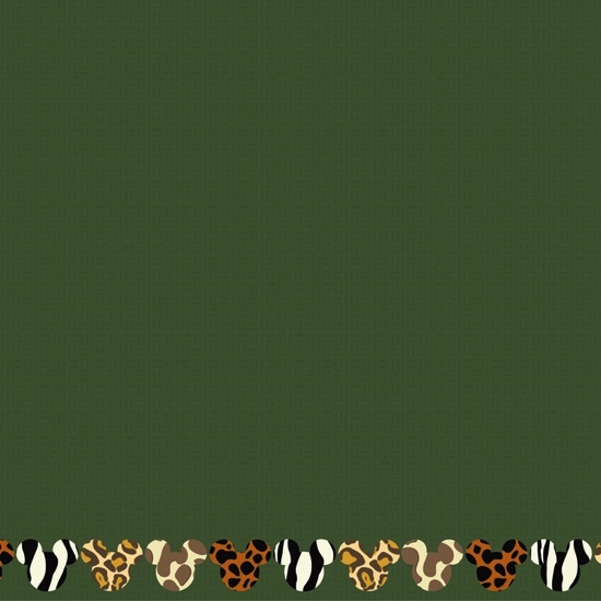 Animal Kingdom Mickey Africa 12x12 Scrapbooking Paper