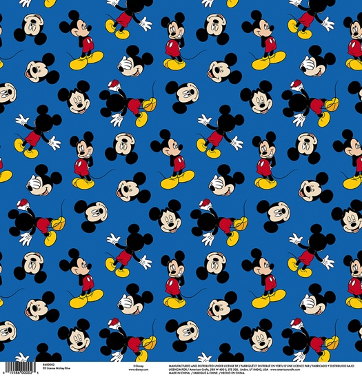 Mickey Mouse Blue 12x12 Scrapbooking Paper
