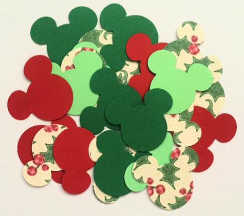 25 Mickey Mouse Christmas Die Cut Scrapbooking Shapes