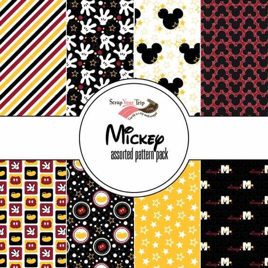 Mickey Mouse 12x12 Scrapbooking Paper Pack