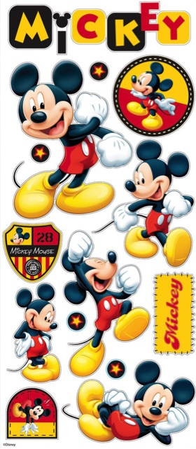 Mickey Mouse Large Scrapbooking Stickers