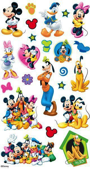Mickey and Friends Scrapbooking Stickers